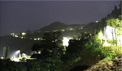西充县化凤山 森林公园路灯安装照明工程